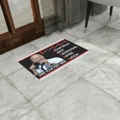 Biden wipe your feet here brain dead idiot destroying entire nation doormat