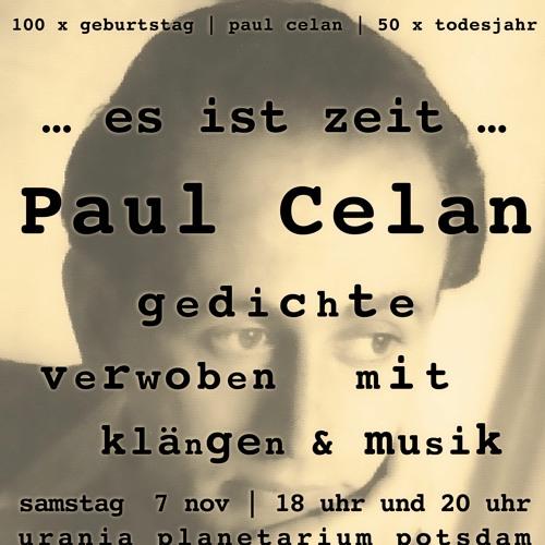 """Paul Celan """"...es ist Zeit..."""" -- TeaserRadioCelan -- 16.11.20"""