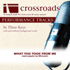 What You Took From Me (Performance Track with Background Vocals in C#)
