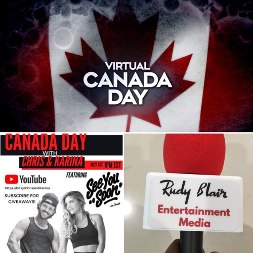"Intv w Celebrity Fitness Coach Chris Lewarne on the virtual  ""The Canada Day Kickoff"" Celebration"