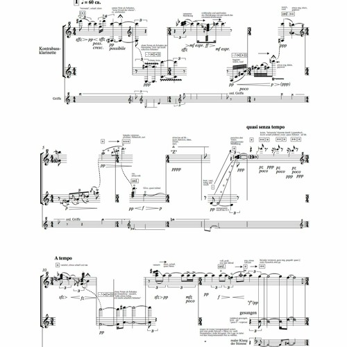 Le Gout De Son for contrabass-clarinett-solo