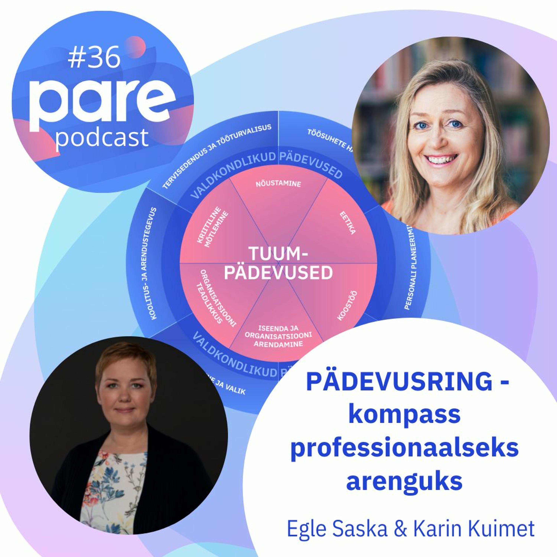 PARE podcast #36 Egle Saska & Karin Kuimet I PÄDEVUSRING – kompass professionaalseks arenguks