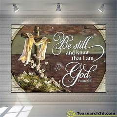 Jesus be still and know that I am god canvas