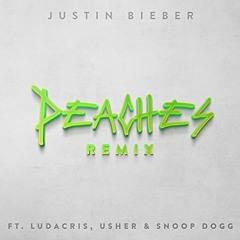 Justin Beiber Feat Ludacris,Usher & Snoop Dogg - Peaches Remix(DJ RODE - Head Over Heels BLEND)