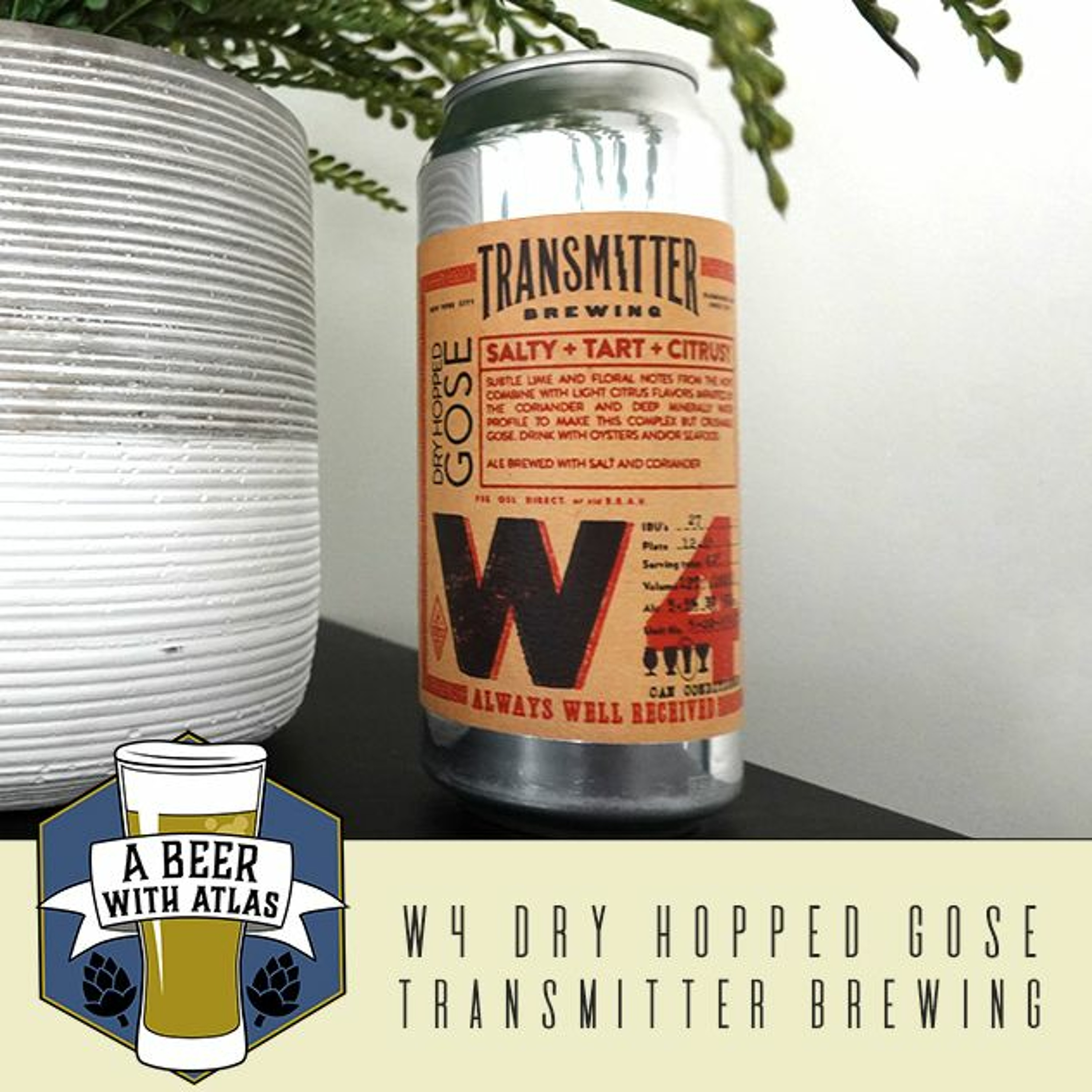 W4 Dry Hopped Gose from Transmitter Brewing - Beer With Atlas 107