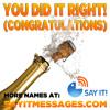 You Did It Right (Congratulations Joshua)