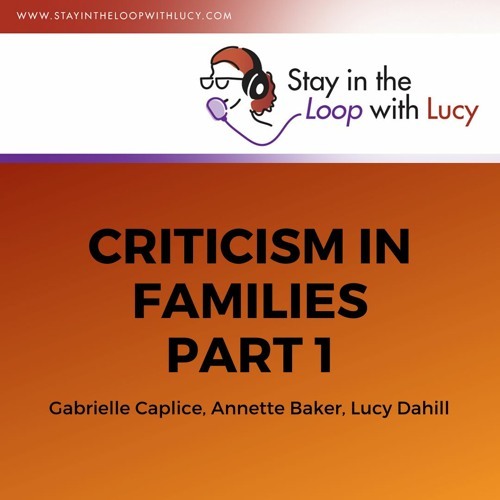 Criticism in Families Part 1