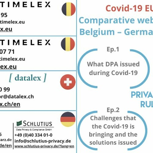 PrivacyRules webinar on the EU Response to Covid-19 (Ep.2): Main challenges and possible solutions