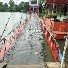 পানিতে ডুবে গেছে রাঙ্গামাটির ঝুলন্ত সেতু | Jagonews24.com