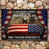Memorial day eagle veteran under a flag poster