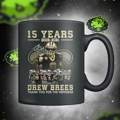 15 year drew brees thank you for the memories mug