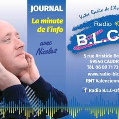 Le Journal De Radio BLC Avec Nicolas - 30 Juillet 2021