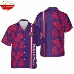 Crown royal canadian whisky hawaiian shirt