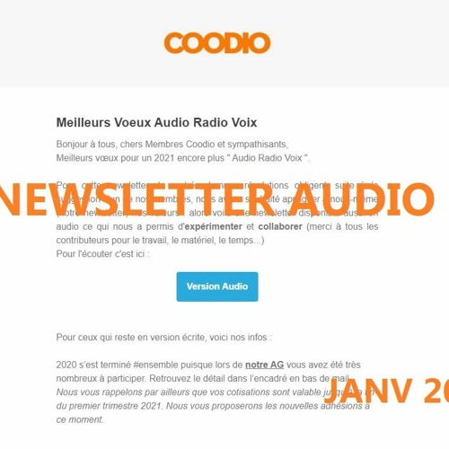 Coodio - experimentation ' newsletter  Audio