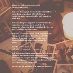 Types of Grief - Written by @LooseVerse - Read by @rubbishpoet