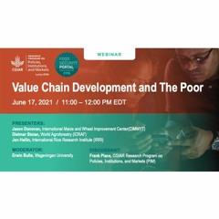 PIM Webinar: Value Chain Development and the Poor