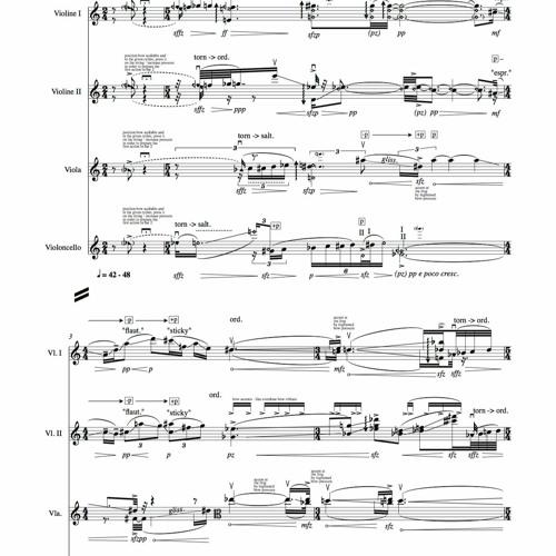 Häuten – paramyth 1 for stringquartett