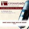 Since Jesus Came Into My Heart (Performance Track Low with Background Vocals in Bb)