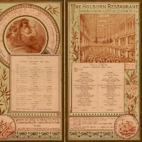 Holborn Restaurant Poem