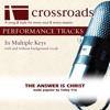 The Answer Is Christ (Performance Track High without Background Vocals in E)