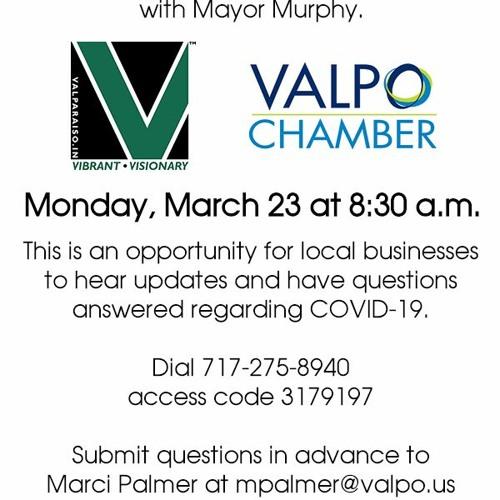 Valparaiso Mayor Murphy Conference Call - 3-23-2020
