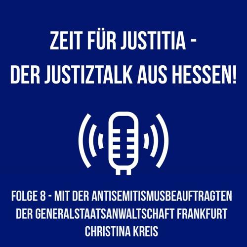 """Folge 8 - """"Die Antisemitismusbeauftragte der hessischen Justiz"""" - Ein Gespräch mit Christina Kreis"""
