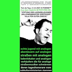 """Poetryclip: LEGENDE VOM ANALOGEN LEBEN (aus dem Gedicht """"STIFTUNG DER LAVENDELLEUGNER"""") @Offszene.de"""
