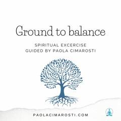 The Tree. Grounding Spiritual Exercise