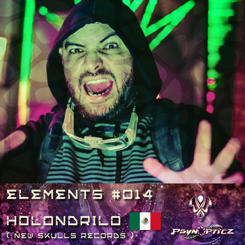 "HOLONDRILO  | MEX (New Skulls) :: PsynOpticz ""ELEMENTS"" Series #014"