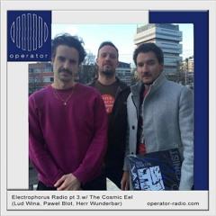 Electrophorus Radio pt 3 w/ The Cosmic Eel (Lud Wina, Pawel Blot and Herr Wunderbar)
