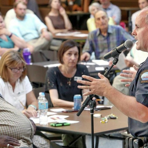 Newtown Residents Discuss Plans for Police Town Hall