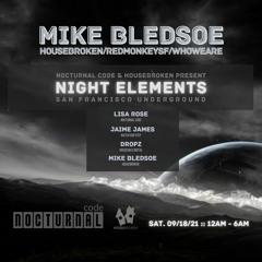 LIVE @NIGHT ELEMENTS - MIKE BLEDSOE
