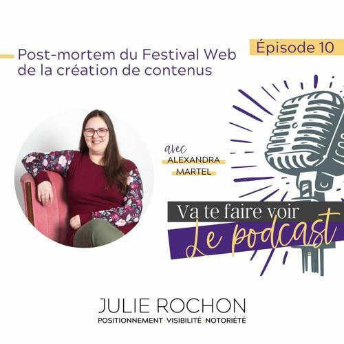 Épisode 10 | Post-mortem du Festival Web de la création de contenus avec Alexandra Martel
