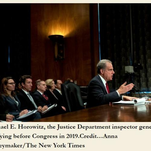 6:07 AM 1/26/2021 - INVESTIGATE THE INVESTIGATORS! The DOJ and FBI roles in the Capitol Riot.