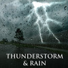 Distant Piano Music with Storm Sound Effect