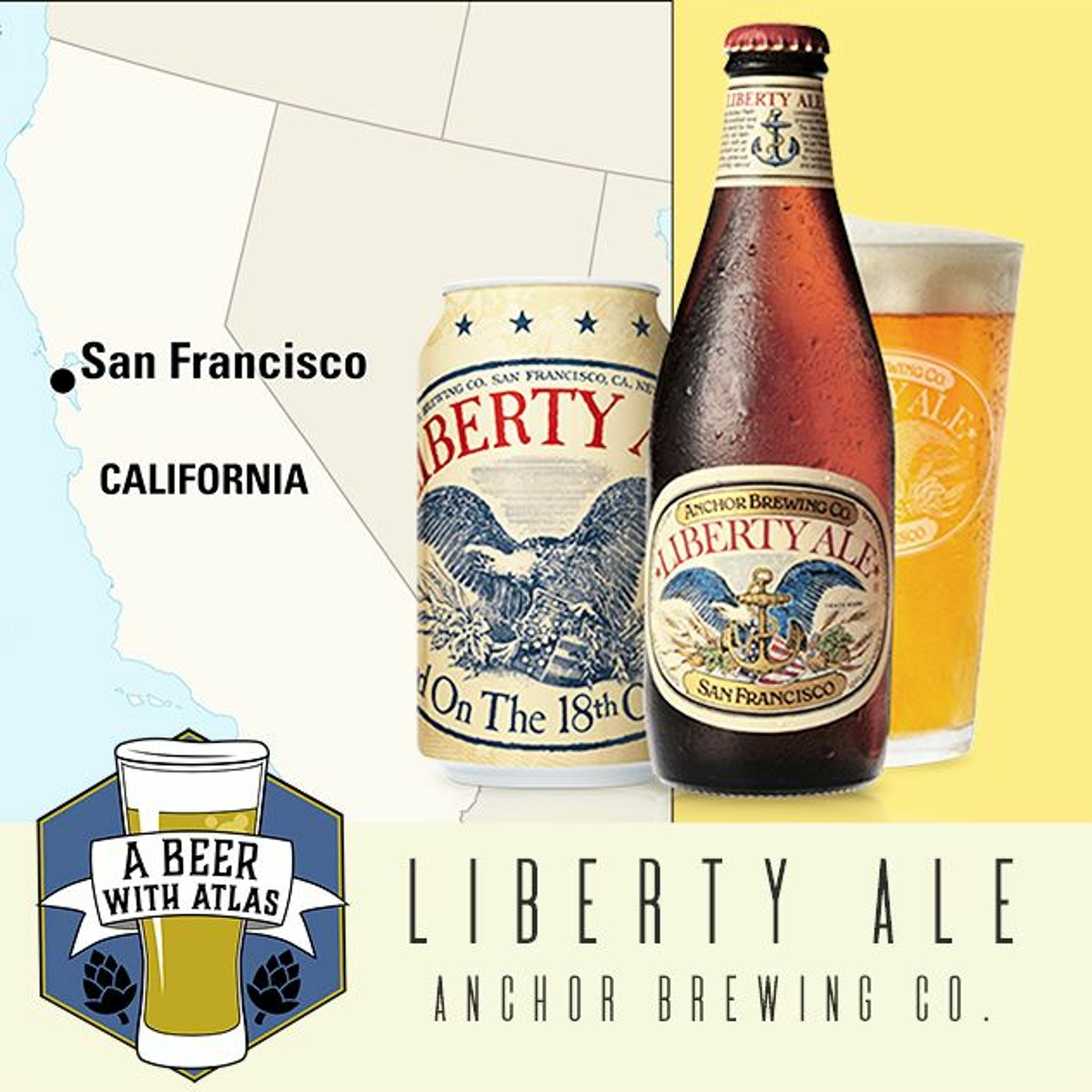 Liberty Ale from Anchor Brewing Company - Beer with Atlas 98