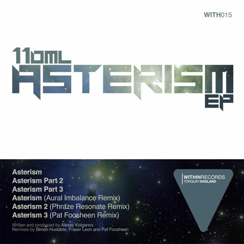 110 ml - Asterism EP -Within Records ( WITH015 ) 04/08/20
