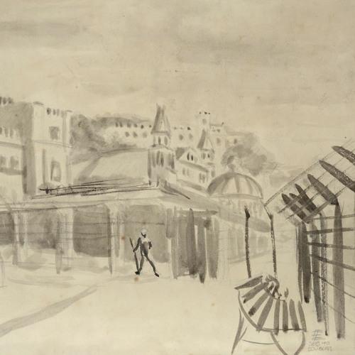 Ernst Eisenmeyer Internment in Douglas and Lom (Alfred Lomnitz) Girl Behind Barbed Wire