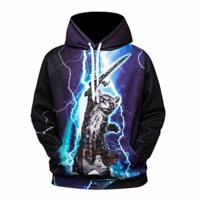Lightning cat Lightning kitty storm 3d hoodie