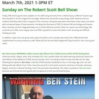 The RSB Show 3-7-21 - Healing success, Ben Stein warning, Key nutrients, ENCORE Pam Popper