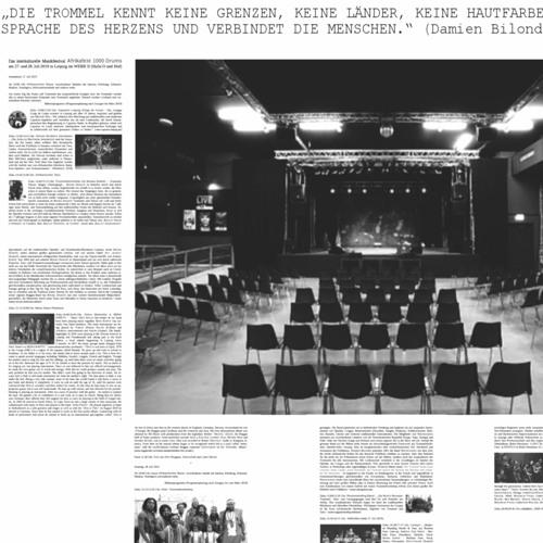 Interaktives Gemeinschaftskonzert (1. Interkulturelles Afrika-Festival 1000 Drums 2019 in Leipzig)