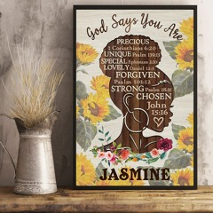 Personalized custom name africa god says you are poster