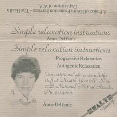 Autogenic Relaxation c.1988