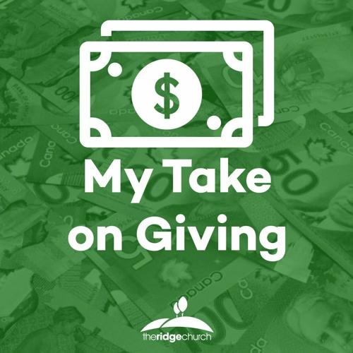 March 8, 2020   My Take on Giving - Ryan Genereaux