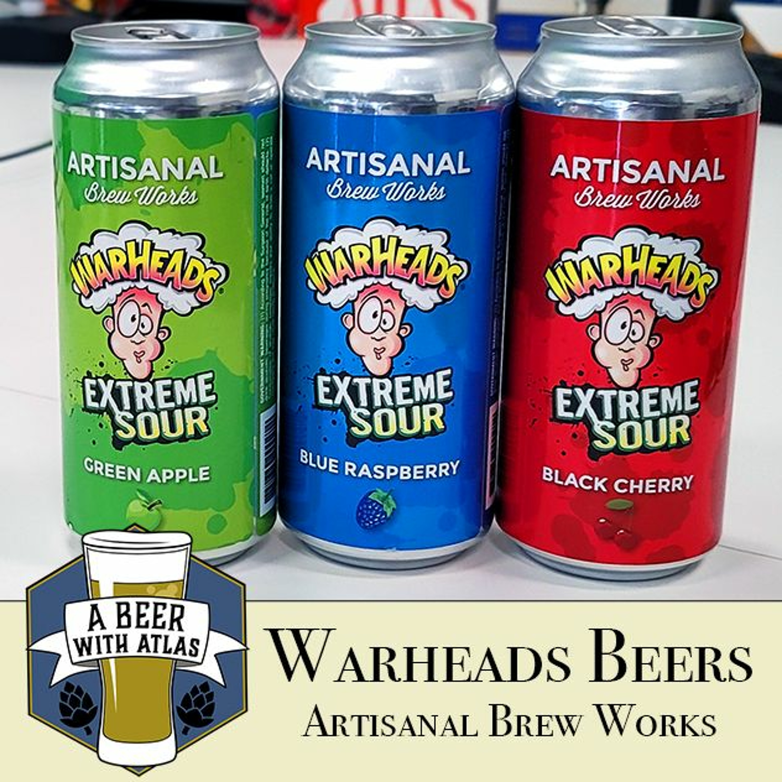 Warheads Sour Beers - Artisanal Brew Works - A Beer with Atlas 139 - travel nurse craft beer podcast