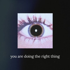 you are doing the right thing