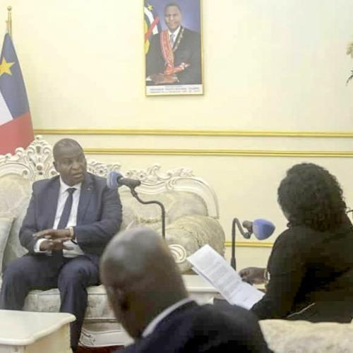Centrafrique : interview exclusive du président Touadéra