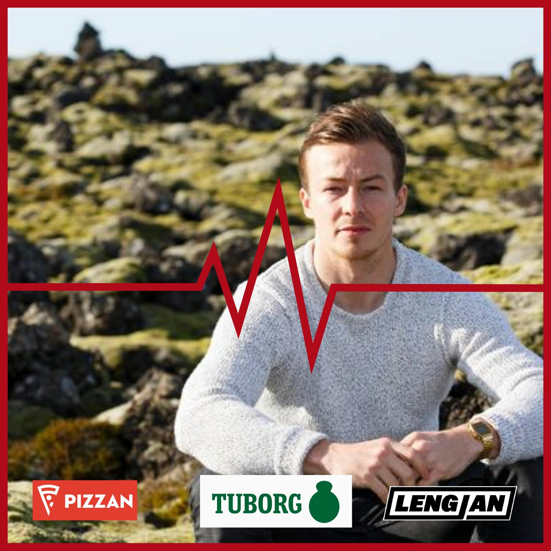Vikulok Dr. Football - Rúmlega þriggja jarda snertimark Símans og er Freyr að sækja Sævar til Lyngby