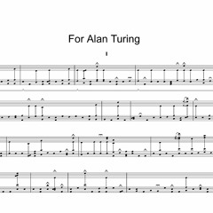 For Alan Turing [part one]