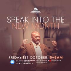 Speak Into the New Month of October - Pastor Temi Odejide
